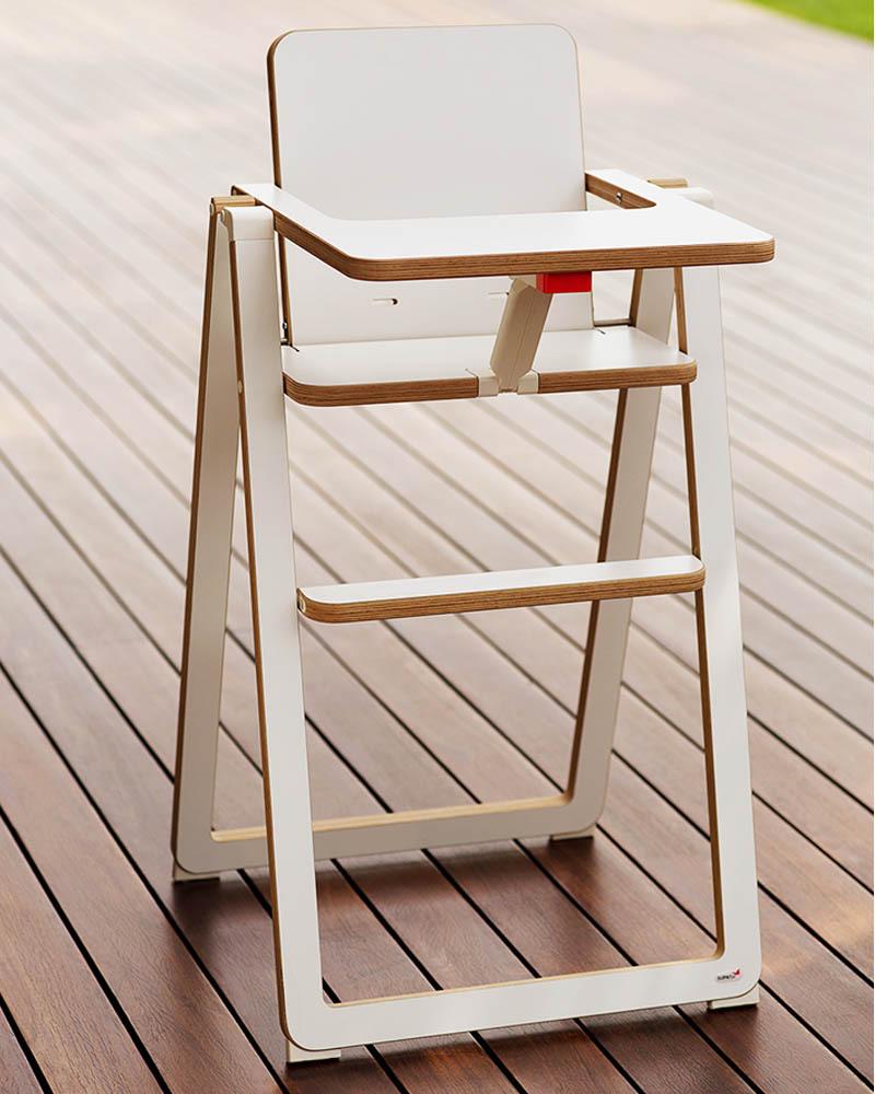 Seggioloni in legno per bambini : Supaflat seggiolone ripiegabile bianco sottilissimo solo 4cm