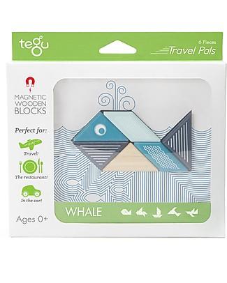 Tegu Balena Magnetica in Legno, Travel Pal - Eco-Friendly e Sicuro! Construzioni In Legno