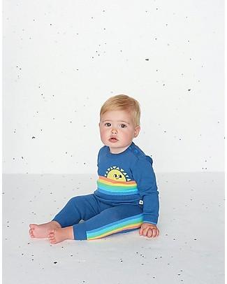 The Bonnie Mob Maglia a Maniche Lunghe Arcobaleno Klee, Blu (18-24 mesi) - 100% cotone bio Maglioni