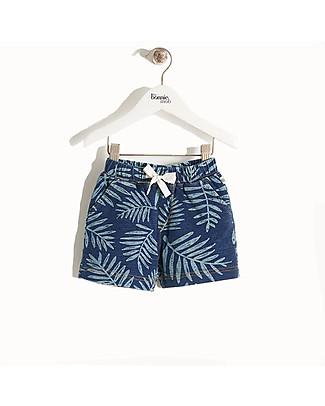 The Bonnie Mob Pantaloncini Denim Elasticizzato  Hawaii, Palme - 100% cotone Pantaloni Corti