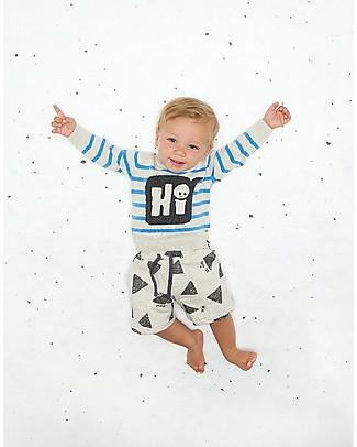The Bonnie Mob Pantaloncini UltraComodi Elasticizzati Miyake, Grigio (12-24 mesi) - Cotone Pantaloni Corti