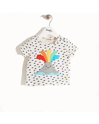 The Bonnie Mob T-shirt a Maniche Corte Paxton, Vulcano - Cotone bio T-Shirt e Canotte