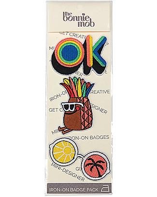 The Bonnie Mob Toppe Termoadesive Xander - Pacco da tre: OK, Ananas, Occhiali Set Regalo