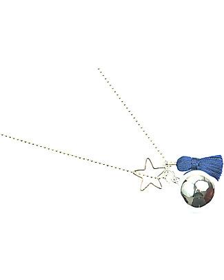 The Good Karma Chiama Angeli Gypsy Mamma, Blu – Con mini stella e pompom! Collane