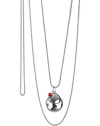 The Good Karma Chiama Angeli Mamma Love, Corallo Rosso - Con mini corallo, la pietra delle sirene Collane