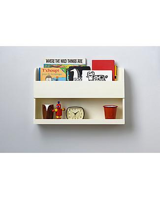Tidy Books Comodino Pensile per Letto a Castello Bunk Bed Buddy - 33x53x12cm - Bianco panna Librerie