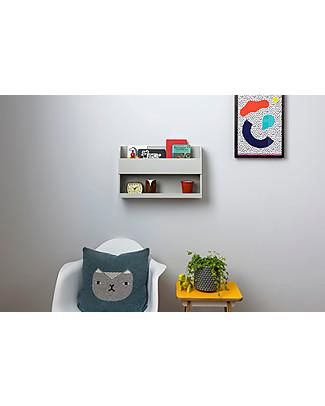 Tidy Books Comodino Pensile per Letto a Castello Bunk Bed Buddy - 33x53x12cm - Grigio Chiaro Librerie
