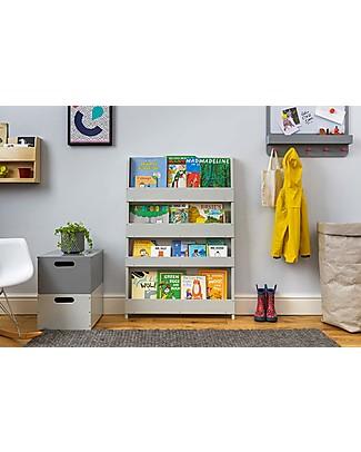 Tidy Books Libreria Frontale per Bambini in Legno - Grigio Chiaro Librerie