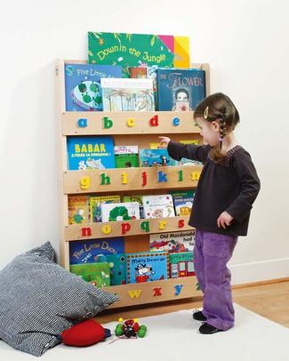 Tidy Books Libreria Frontale per Bambini - Lettere 3D - Naturale Lettere Maiuscole Librerie