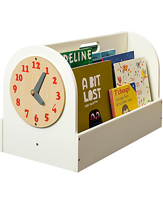 Tidy Books Libreria Frontale Portatile per Bambini - 34x54x28 cm - Bianco panna Librerie