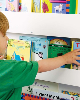 Tidy Books Libreria Montessoriana Frontale per Bambini in Legno - Bianco Librerie
