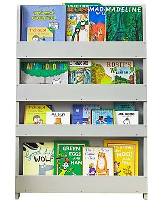 Tidy Books Libreria Montessoriana Frontale per Bambini in Legno - Grigio Chiaro Librerie
