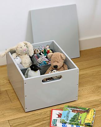 Tidy Books Sorting Box, Contenitore in Legno per Giocattoli, Grigio Chiaro - 40 x 30 x 24 cm Librerie