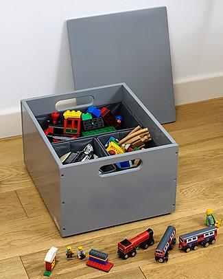 Tidy Books Sorting Box, Contenitore in Legno per Giocattoli, Grigio Scuro - 40 x 30 x 24 cm Contenitori Porta Giochi