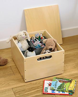 Tidy Books Sorting Box, Contenitore in Legno per Giocattoli, Naturale – 40 x 30 x 24 cm Librerie
