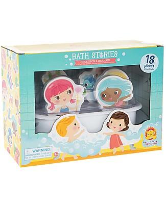Tiger Tribe Gioco da Bagno Bath Stories, Sirene - 18 personaggi per giocare nella vasca! Giochi Bagno