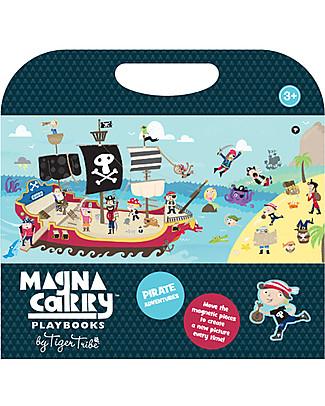 Tiger Tribe Magna Carry, Album Portatile con Personaggi Magnetici, Pirati - Stimola immaginazione e coordinazione! Giochi Per Inventare Storie