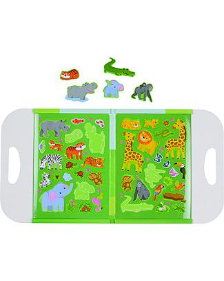 Tiger Tribe Magna Carry, Mondo con Personaggi Magnetici, Giungla - Stimola immaginazione e coordinazione! Giochi Per Inventare Storie