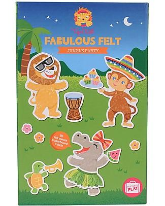 Tiger Tribe Set Gioco da Viaggio Feltro Favoloso, Jungle Party - 80 figurine per divertirsi ovunque! Giochi Creativi
