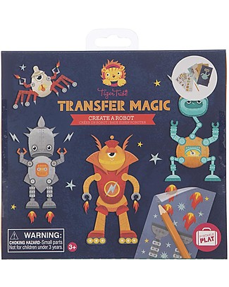 Tiger Tribe Set Transfer Magic Crea un Robot  Giochi Creativi