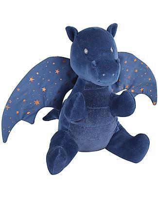 Tikiri Peluche Drago Midnight Cotone Bio, Fairytales, - 23 cm - Ali rumorose! Peluche