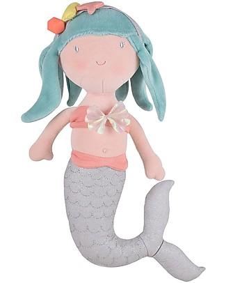 Tikiri Peluche Sirena, Fairytales - 30 cm - Cotono Bio Peluche