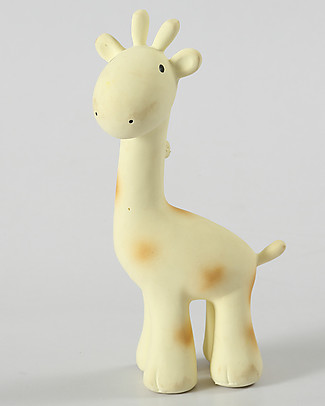 Tikiri Sonaglio Giraffa, My First Zoo - 100% Caucciù Naturale Sonagli