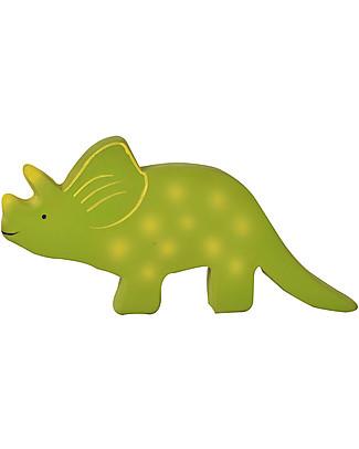 Tikiri Triceratopo, Baby Dinos - 100% Caucciù Naturale Pupazzi