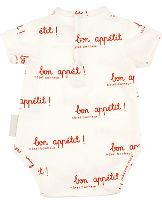 Tiny Cottons Body Maniche Corte Bon Appétit - Cotone Pima Elasticizzato Body Manica Corta
