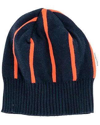 Tiny Cottons Cappellino Invernale a Righe, Arancione/Blu Cappelli Invernali
