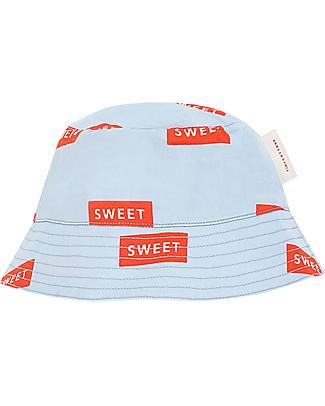 Tiny Cottons Cappello da Sole Sweet, Azzurro/Rosso - 100% Cotone Cappelli