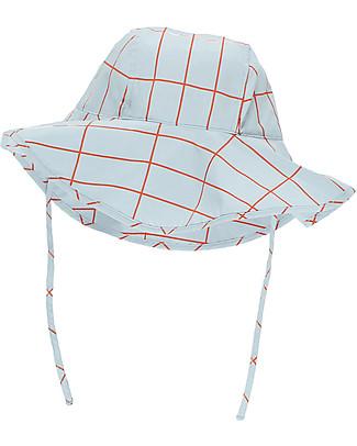 Tiny Cottons Cappello Griglia, Azzurro/Arancio – Cotone Pima Cappelli