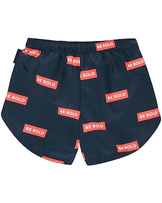 Tiny Cottons Costume Bimbo a Pantaloncino Be Bold, Blu Navy/Rosso Costumi a Pantaloncino
