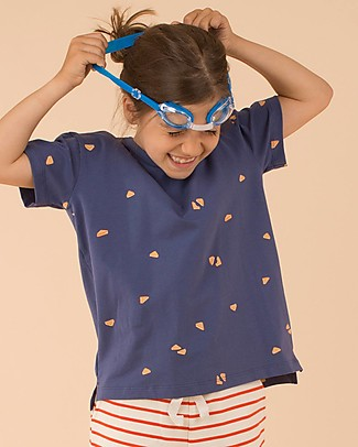 Tiny Cottons Hotel Bonheur, Sandwich T-Shirt, Blu Navy e Mattone – Cotone Pima T-Shirt e Canotte