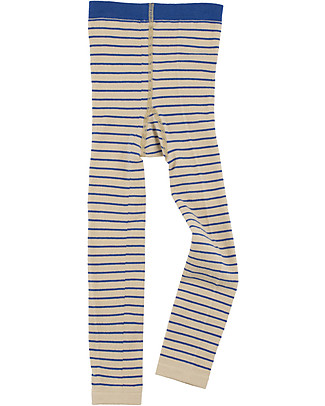 Tiny Cottons Leggings a Righe, Beige+Blu Leggings