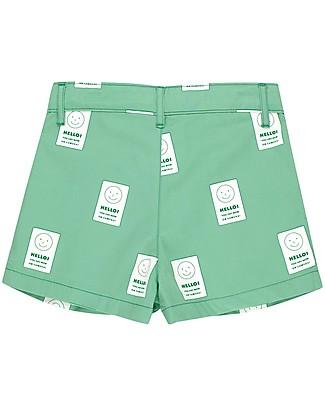 Tiny Cottons Pantalone Corto Pleated, Hello – 100% Cotone Pantaloni Corti