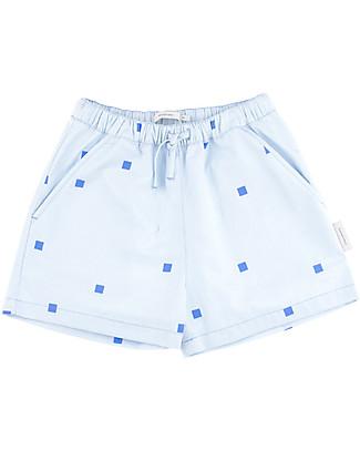 Tiny Cottons Pantalone Corto Squares Dots – 100% Cotone Pantaloni Corti