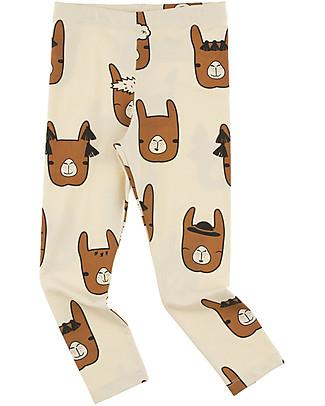 Tiny Cottons Pantalone Lama, Beige+Marrone - Cotone Pima Pantaloni Lunghi