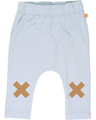 Tiny Cottons Pantalone Logo, Azzurro - Cotone Pima Pantaloni Lunghi