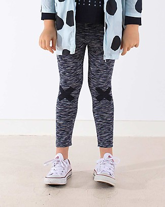 Tiny Cottons Pantalone Logo, Beige+Nero - Cotone Pima Pantaloni Lunghi