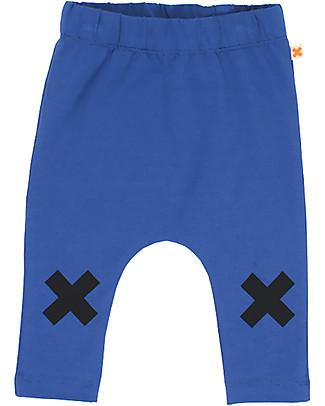 Tiny Cottons Pantalone Logo, Blu - Cotone Pima Pantaloni Lunghi