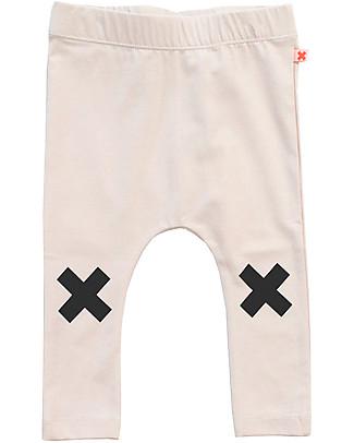 Tiny Cottons Pantalone Logo, Panna - Cotone Pima Pantaloni Lunghi