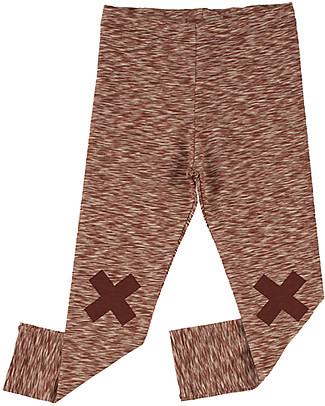 Tiny Cottons Pantalone Logo, Rosa Pallido+Bordeaux - Cotone Pima Pantaloni Lunghi