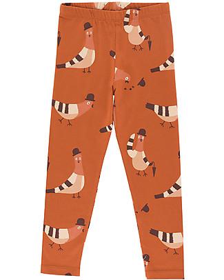 """Tiny Cottons Pantaloni Leggings """"Piccioni"""" - Cotone PIMA Leggings"""
