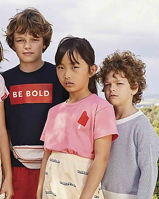 Tiny Cottons Popsicle T-Shirt, Rosa/Rosso - Cotone Pima Elasticizzato T-Shirt e Canotte
