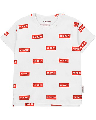 Tiny Cottons T-Shirt Be Bold, Bianco/Rosso - Cotone Pima T-Shirt e Canotte