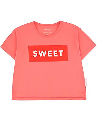 Tiny Cottons T-Shirt Sweet, Rosa/Rosso - Cotone Pima T-Shirt e Canotte