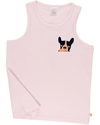 Tiny Cottons Top con Taschino Moujik, Rosa Pallido - Cotone Pima Elasticizzato T-Shirt e Canotte