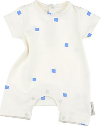 Tiny Cottons Tutina Maniche Corte Squares Dots - Cotone Pima Elasticizzato Tutine Corte