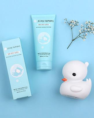 Tiny Humans Baby Detergente Bagnetto, Cocco e Proteine del Grano - 200 ml Bagno Doccia Shampoo